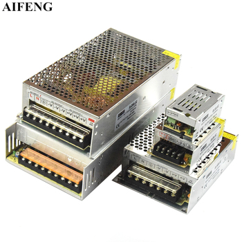 AIFENG Switching Power Supply AC 110V 220V To DC 5V 12V 24V 48V Power Supply Switching Power Led Strip Light Adapter Transformer image