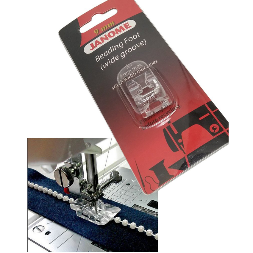 MC9900,Skyline S5,S7,S9 Beading Foot Wide Groove 9mm 202098007 Janome MC8900