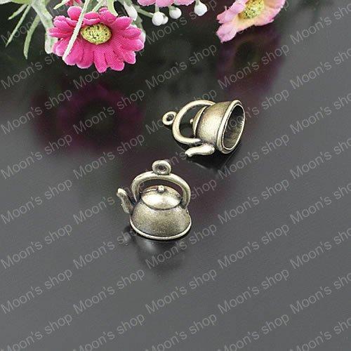 Wholesale Antique bronze Kettle Alloy Charms Pendants Diy Jewelry Findings Accessories 20 pieces (JM1796)