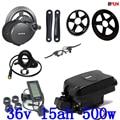 36В 500 Вт Bafang BBS02 комплект электродвигателя с серединным приводом + 36В 15ач Электрический велосипед литий-ионный аккумулятор для 36В 350 Вт 500 Вт м...