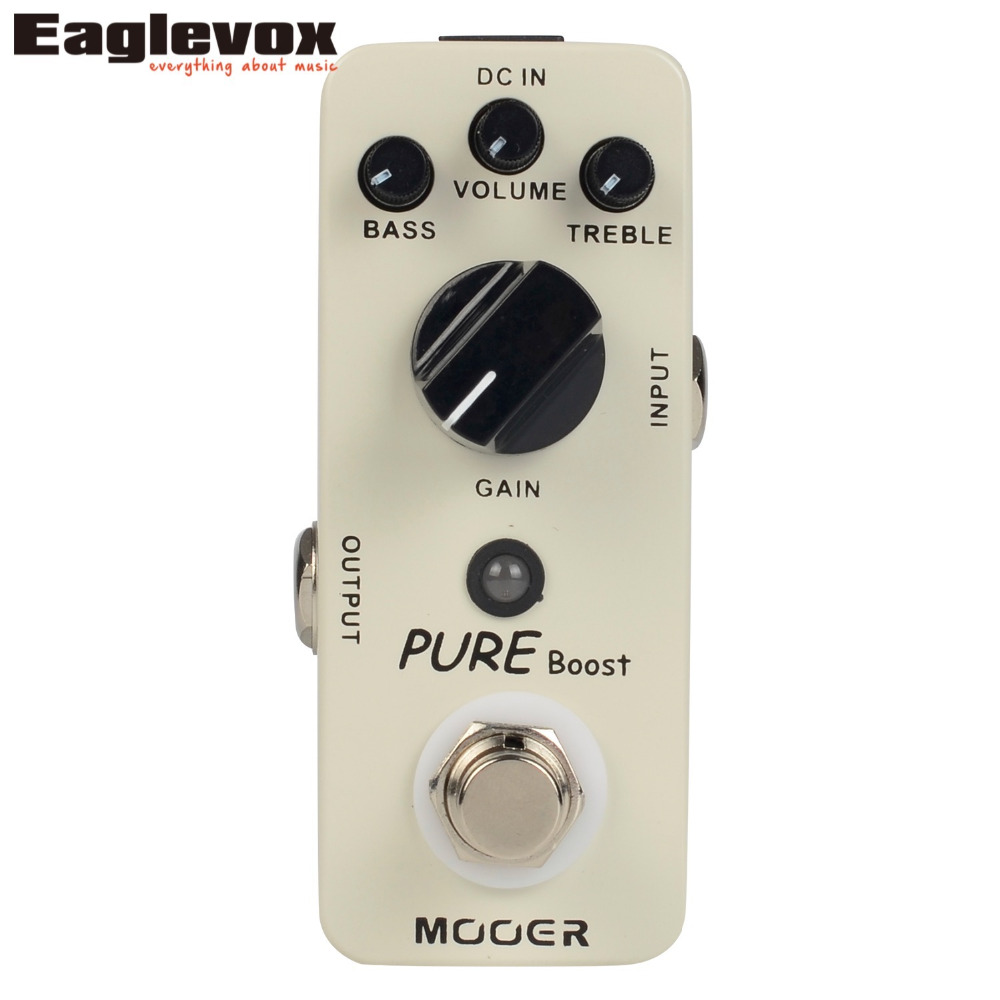 Mooer Pure Boost Micro Series Guitar Effect Pedal True bypass 20 dB Clean Boost mooer 2 band eq pure boost aluminum alloy electric guitar effect pedal true bypass 20 db clean boost