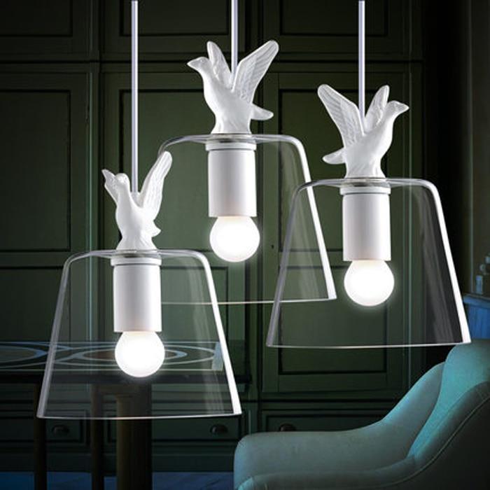 Modern Brief Fashion Retro Loft Country Creative White Resin Duck Glass Edison Pendant Lamp Study Restaurant Home Decor Lighting|pendant lamp|edison pendant lamp|fashion lights - title=