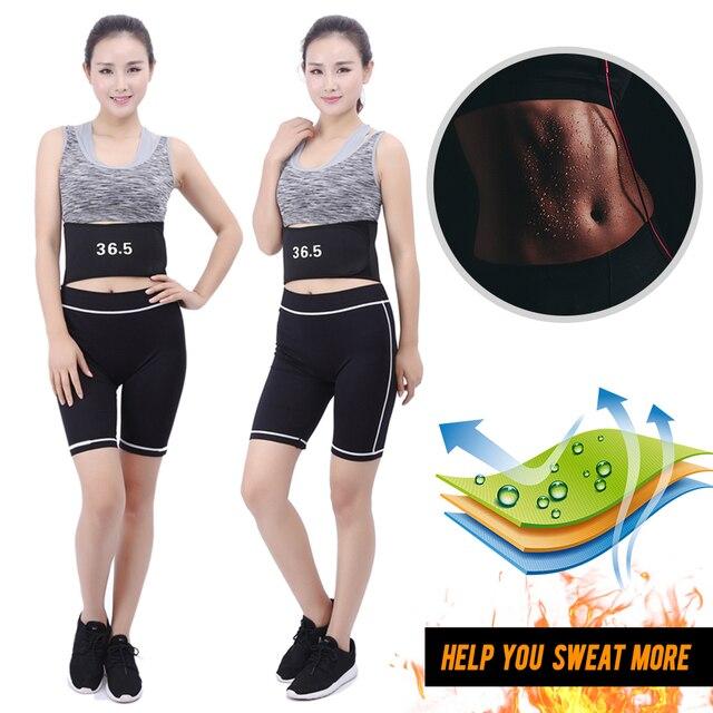 / Heating Waist Trimmer Sweat Belt Weight Loss Sports Girdle Belt Waist Trainer Belt Lower Back Pain Relief Belt Women Men 2019 1