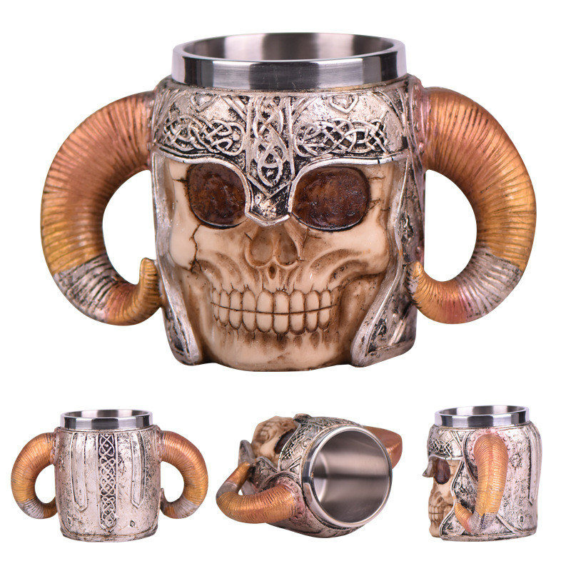 Image 2 - 2019 New Style 3D skull shape Cup Game of thrones Coffee Beer Cup Mug 13oz Best Gift For Boyfriend-in Mugs from Home & Garden