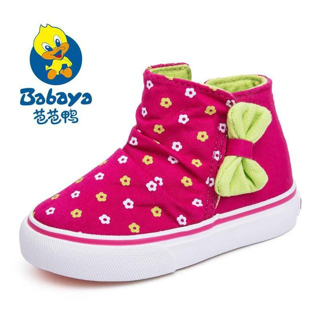 2015 casual brand Autumn fashion floral cute high top slip on baby girl canvas ankle shoes infant sneakers girls first walkers