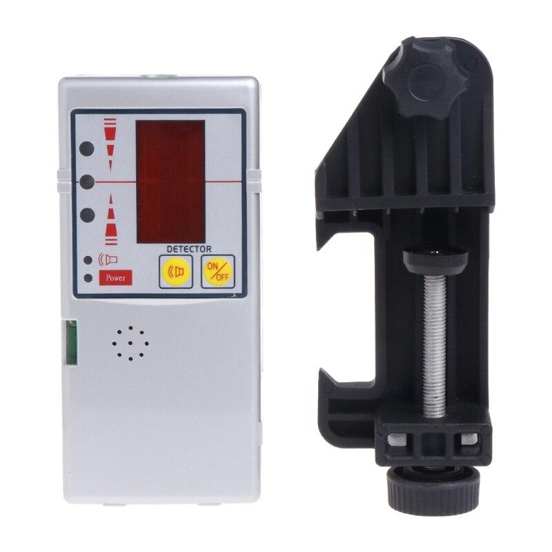 Superbe détecteur de récepteur Laser à ligne transversale Compatible avec faisceau rouge 635nm avec pince