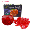 1pcs Apple Shape Puzzles For Children Non-Luminance Adult Puzzle DIY Kids Puzzles 3D Crystal Puzzle Jigsaw Assembly Model