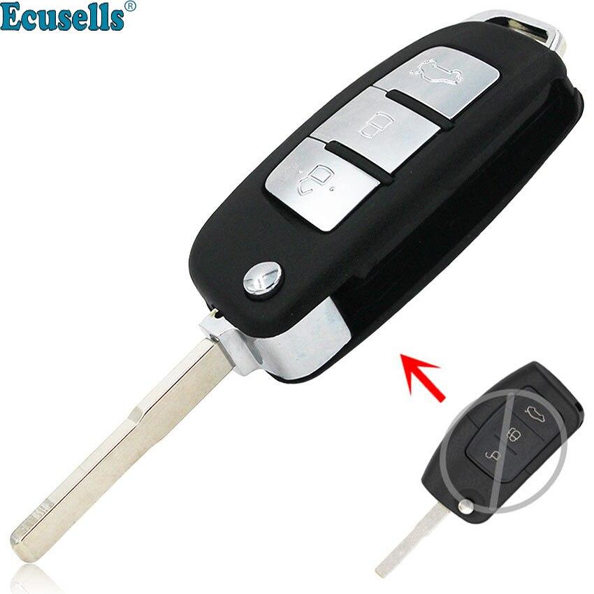 Car Uncut Remote Folding Key Shell Case For Ford Fiesta Focus Ka C-Max S-Max