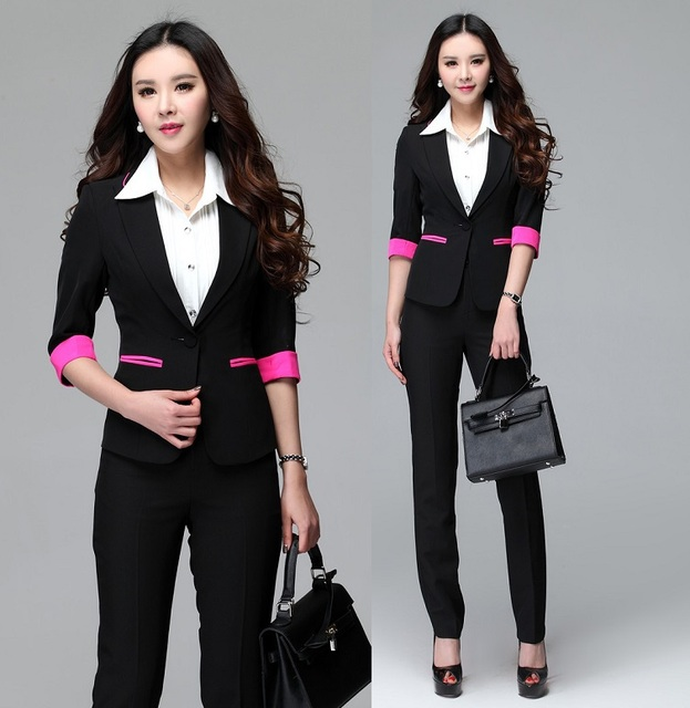 New formal uniform design 2015 summer female office suits for Office uniform design 2014