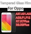 Vidrio templado Para OPPO R9Plus R9 R7 R7Plus F1 F1S FONES FONE A37 A51 A53 A59 cubierta protectora de pantalla smartphone templado 9 H en