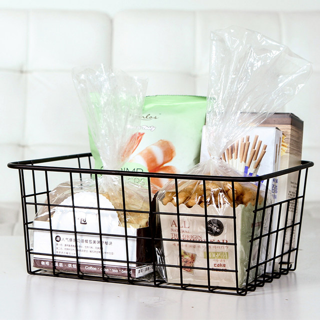 Bathroom Toiletries Organizer Wire Magazine Newspaper Basket Post Storage  Rack Kitchen Vegetable Storage Hamper Vintage Style