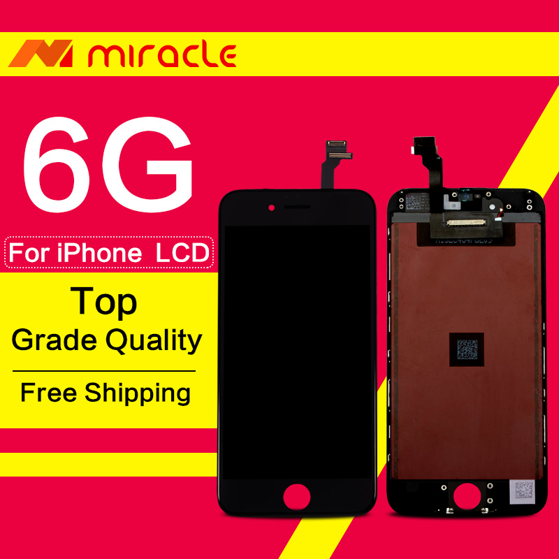 Prix pour TM Smart Qualité Haute 100% Pas de Dead Pixel Mobile Pièces Pour iphone 6 lcd avec écran tactile digitizer assemblée remplacement livraison dhl