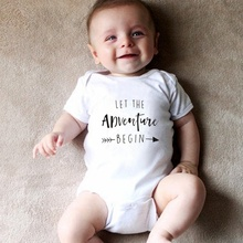 Let The Adventure Begin Baby Onesie Pregnancy Announcement Onesie Clothing