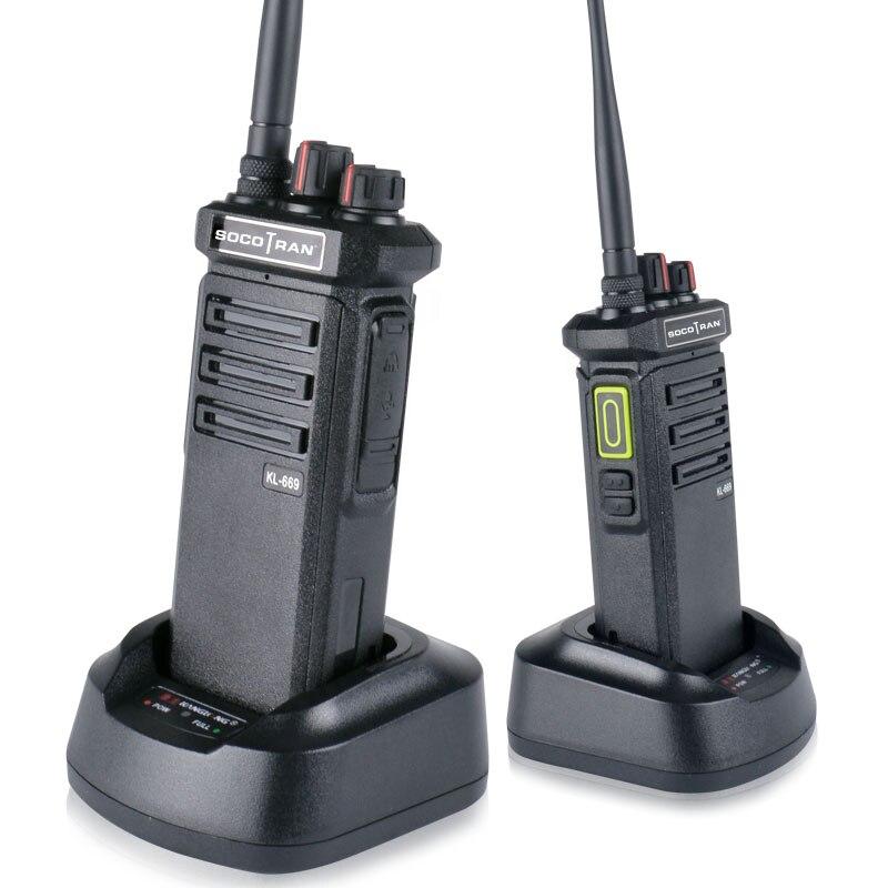 10 W talkie-walkie haute puissance LED écran d'affichage caché radio jambon Portable UHF 400-480 MHz longue portée Radio bidirectionnelle KL-669