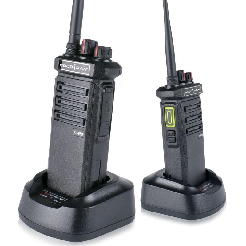 10W High Power Walkie Talkie LED Hidden Display Screen Ham Radio Portable UHF 400-480 MHz Long Range Two Way Radio KL-669