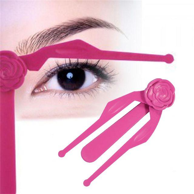 1pc Professional Plastic Eyebrow Template Foldable Diy Eyebrow Ruler