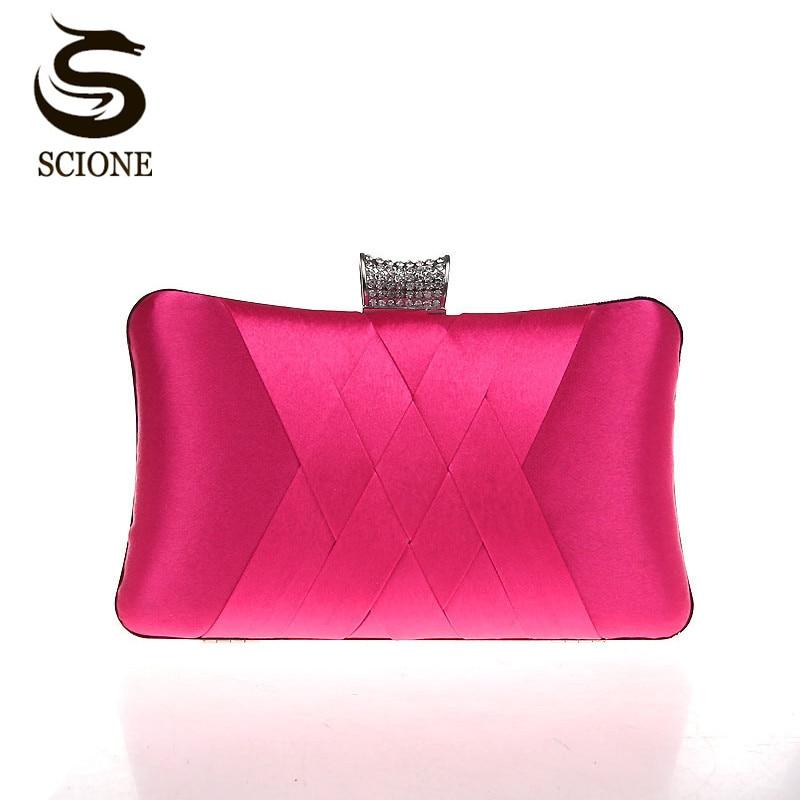 купить Women Clutch Bags Satin Bride Bag Purse Designer Gentle Evening Bags Party Handbag Wedding Clutch Wallet Shoulder Bag 7395 онлайн