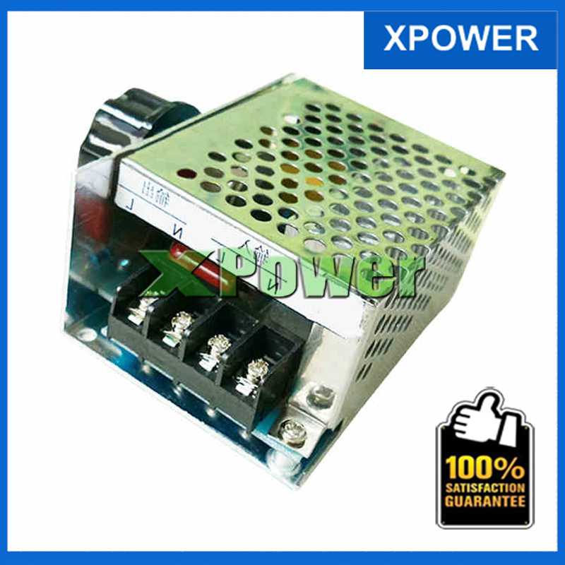 Wholesale 4000W AC 220V Electronic Motor Speed Controller AC 10V~220V Regulate SCR AC Electronic Voltage Regulator Controller помада make up factory make up factory ma120lwhdq53