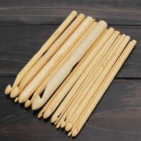 2019 Nuovo Arrivo 16 Dimensioni Set 6 di Bambù di Lavoro A Maglia Del Tessuto Uncinetto Ganci Craft Strumento di 2.0-12.0 millimetri vendita calda