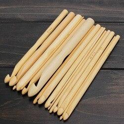 2019 nova chegada 16 tamanhos conjunto 6 bambu tricô tecer agulha crochê ganchos artesanato ferramenta 2.0-12.0mm venda quente