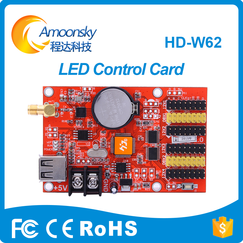 HD-W62 USB+Wifi P10 LED Screen Module Control Card P10 LED Message Display Controller Card Huidu Factory Directly Supply