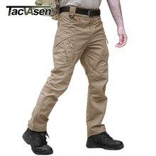 TACVASEN spodnie taktyczne mężczyźni odzież militarna praca na zewnątrz Cargo spodnie mężczyźni Airsoft Army spodnie bojówki Stretch spodnie szturmowe