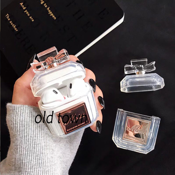 Luxury Brand Transparent Protector Silicone Bluetooth Wireless Earphone Case for Apple AirPods Box Cute Sexy Headset