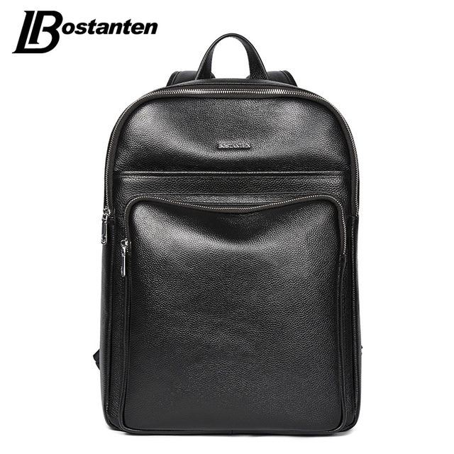 BOSTANTEN New School Bags Leather Backpack Male Business 14 15 ...