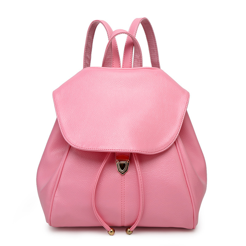 New fashion Style Hot High Quality High grade luxury Leather Travel Backpack Women Bags Girls School