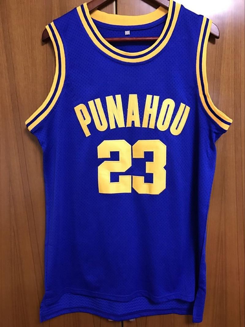 Aliexpress.com : Buy EJ Barack Obama 23 Punahou High Basketball Jersey ...