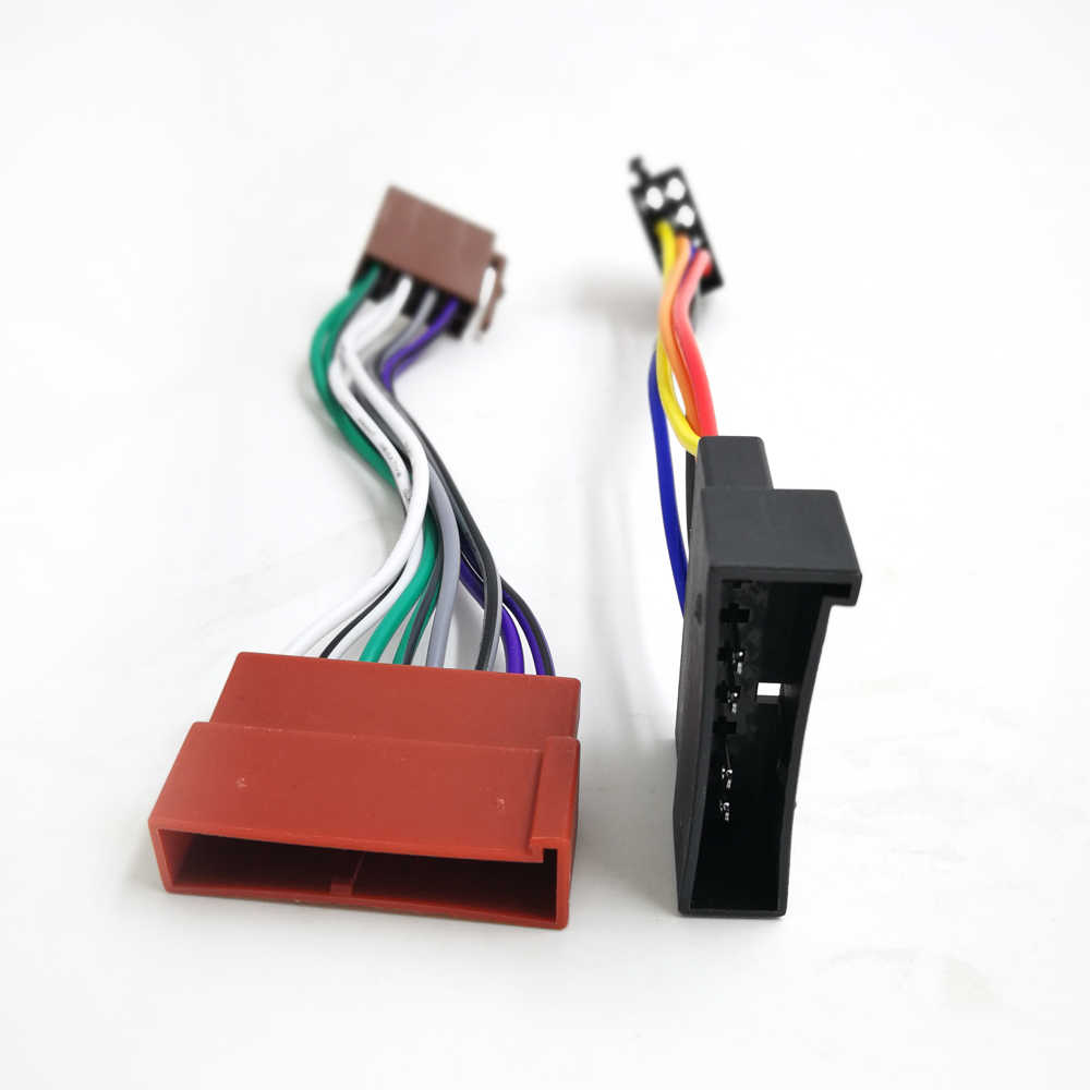 small resolution of  biurlink iso wiring harness adapter mini iso connector for ford 1985 2005 jaguar lincoln mercury