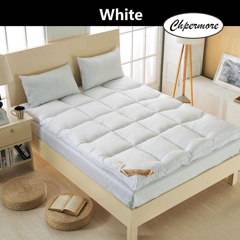 Chpermore  five star hotel Thicken Feather velvet Mattress Foldable Tatami Single double Mattresses Cotton Cover King Queen Size 5