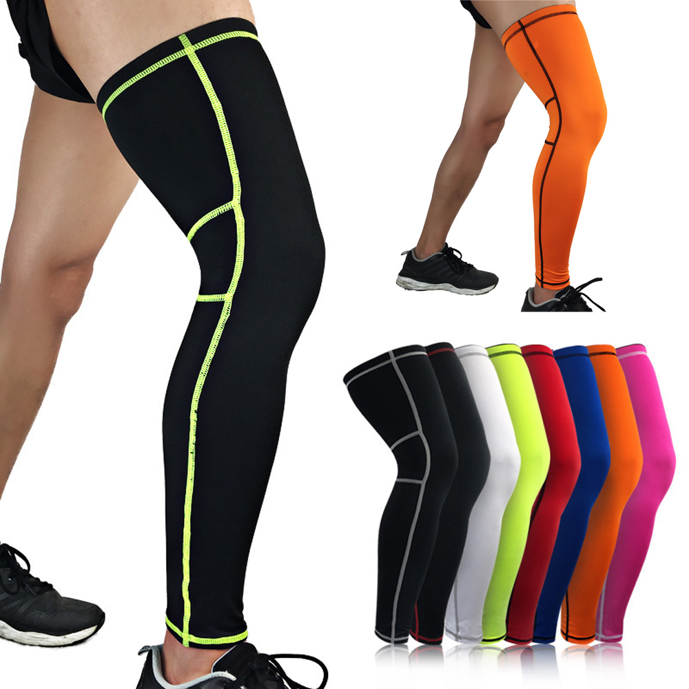 Sports Leg Thigh Sleeve Protective Knee Brace Wrap Support Outdoor Exercise SPSLF0052