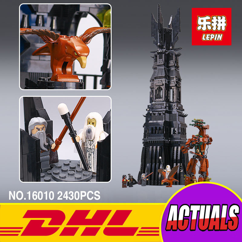 2017 New LEPIN 16010 2430Pcs Lord of the Rings The Tower of Orthanc Model Building Kits toy Blocks Bricks Toys Gift 10237 new lepin 16018 genuine the lord of rings series the ghost pirate ship set building block brick toys 79008 educational toy gift
