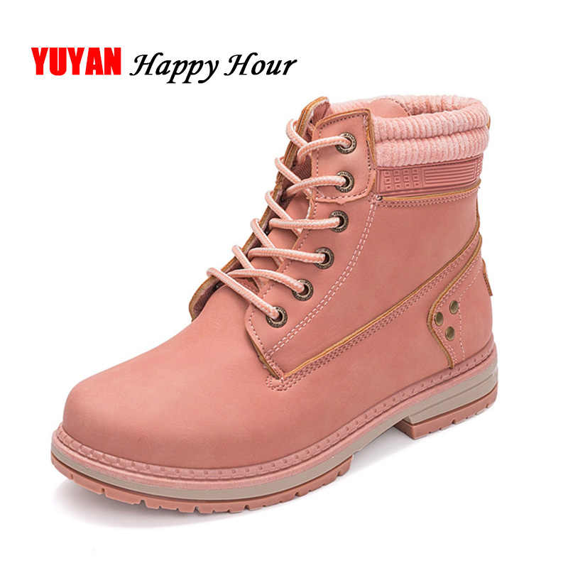 Cold Winter Shoes Women Snow Boots Fashion Plush Warm Shoes Women's Boots Brand Woman Ankle Botas Hard Outsole A371