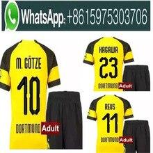 FREE Ship 18 19 men BVB Borussia Dortmund PULISIC soccer jersey kit 2018  2019 WITSEL GOTZE MOR KAGAWA REUS SAHIN adult football 4d825f26e