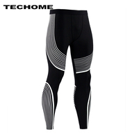 2017 Brand Clothing Men Pants New Compression Pants Base Layer Tights Exercise Fitness Long Leggings Trousers