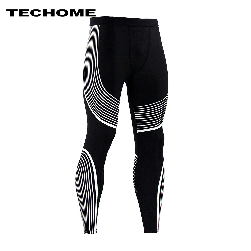 2017 Brand Clothing Men Pants New Compression Pants Base Layer Tights Exercise Fitness Long Leggings Trousers Leisure Pants Men