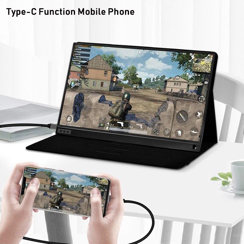 Moniteur lcd hd portable mince zeuslam 15.6 USB type C hdmi pour ordinateur portable, téléphone, xbox, commutateur et moniteur de jeu lcd portable ps4 - 3