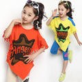 New 2015 Children's Clothing Sets Fashion Letter Pattern Batwing Sleeve Shirt+Leggings Girls Clothing Sets for Baby&Kids Wear
