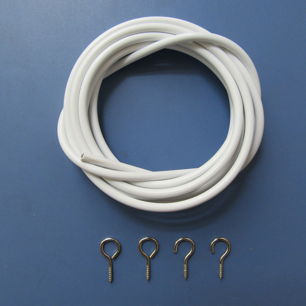 Curtain Wire 3m including hooks /& eyes