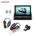 Whole Set Wireless Parking System : Car Rear View Camera + 4.3' LCD Display Car Monitor + Wireless Signal Transceiver