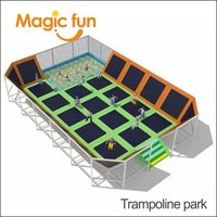 MAGIC FUN Jumping exercise equipment mat indoor trampoline park and playground for jumping gymnastics fitness trampoline