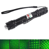 High Power Durable 532nm 2 Miles Pen Clip Green Laser Pointer With 18650 Battery Charger Star
