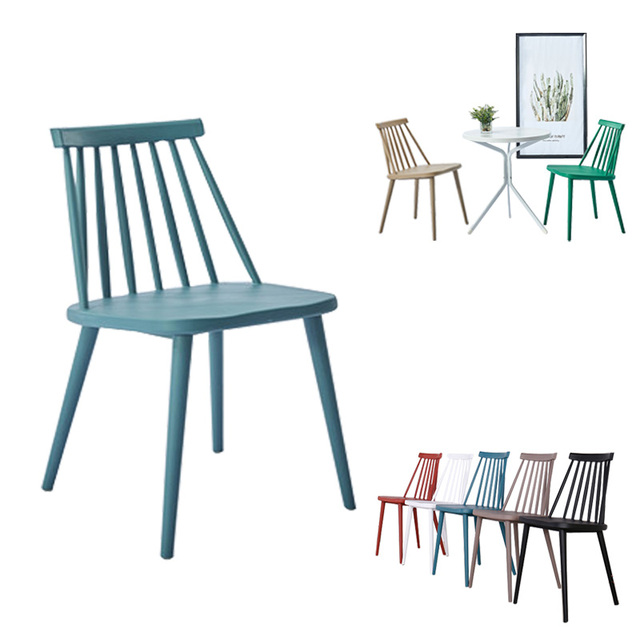 Nordic Windsor Chair Clic Style Modern American Dining Color Leisure Plastic Coffee Living