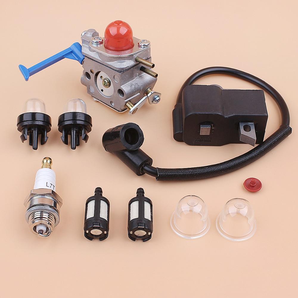 Tools : Carburetor Ignition Coil Magneto Tune Up Kit for HUSQVARNA 128C 128LD 128R 125C 125E 125L Brush Cutter Brushcutter Trimmer
