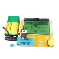 ספוט LCD הדיגיטלי טרנזיסטור Tester Meter LCR T4 תאורה אחורית דיודה טריודה קיבוליות ESR Meter עבור MOSFET/JFET/PNP/ NPN L/C/R|מולטימטר|   -