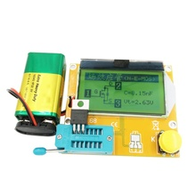 스팟 lcd 디지털 트랜지스터 테스터 미터 mosfet/jfet/pnp/npn l/c/r 용 LCR T4 백라이트 다이오드 3 극 커패시턴스 esr 미터