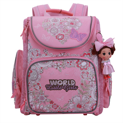 Russian Style Cartoon Cute Cats School Bags for Girls Nylon Waterproof Orthopedic Backpack Kids Portfolio Mochila Escolar