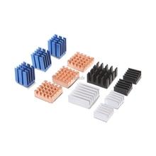 12 Teile/satz Kühlkörper Aluminium Kupfer Kühler Kühler Kit Für Raspberry Pi 2 / 3 Whosale & Dropship